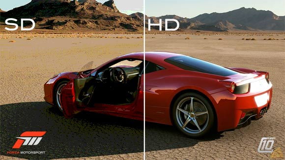 Forza Motorsport HD vs SD