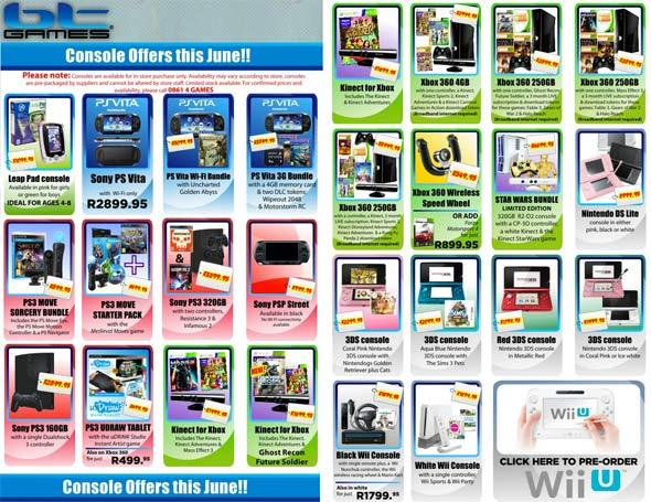 BT Games Console Deals June 2012